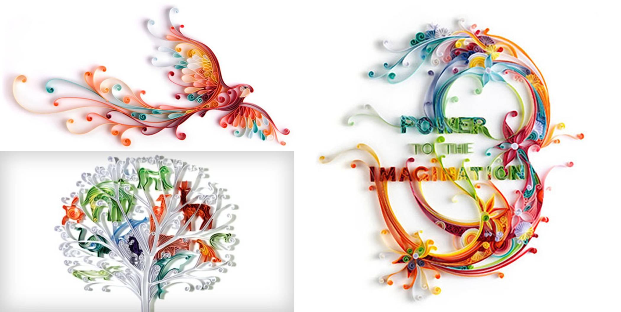 Paper craft dctdesigns creative canvas for Creative paper art