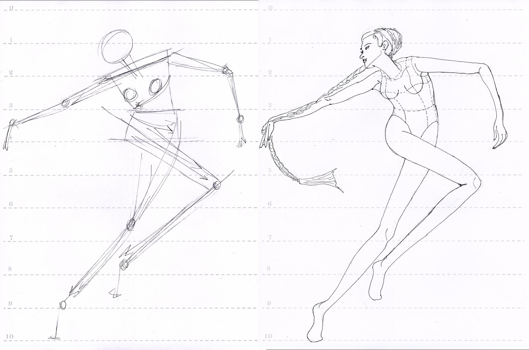 croquis poses dctdesigns creative canvas