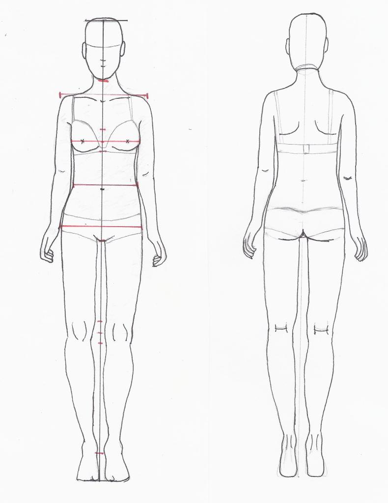 Female Croquis Front and Back http://dctdesigns.com/category/croquis/