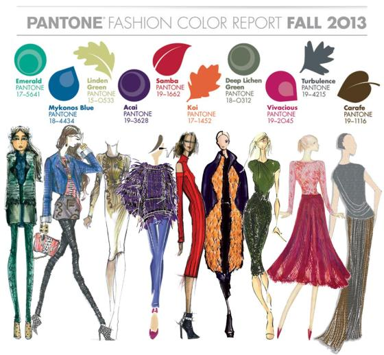 Pantone color report fall 2013