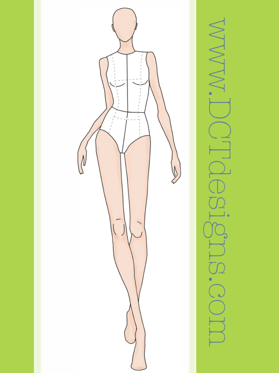 Fashion illustration body templates 34